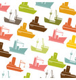 colorful pattern vessel and ship design vector image