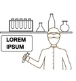 a chemistry or scientist in vector image