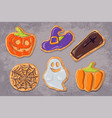 a set of gingerbread cookies on the theme of vector image vector image
