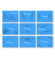 abstract blue curve background with copy space vector image vector image