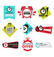 alarm clock isolated icons last minute offer vector image vector image