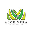 aloe vera logo design natural product badge vector image vector image
