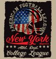 american football vintage print for boy vector image vector image