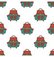 backpack flat seamless pattern rucksack symbols vector image