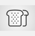 bread icon sign symbol vector image vector image