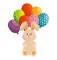 bunny animal balloons vector image