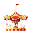 carousel merry go round with horses isolated vector image vector image