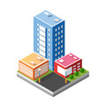 cityscape design elements with isometric building vector image vector image