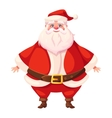 Colorful flat santa standing vector image vector image