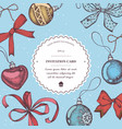 composition with colored decorations bow vector image