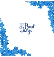 corner with forget-me-not flowers vector image