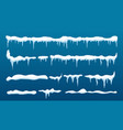 creative of ice icicle caps vector image vector image