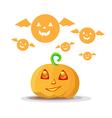 Cute pumpkin Halloween vector image