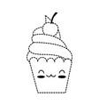delicious cupcake kawaii character vector image vector image