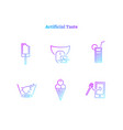 digital artificial taste concept icons collection vector image vector image