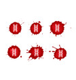 dna blood icons set vector image