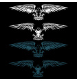 eagles set design template vector image vector image
