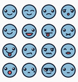 Emoticons faces set vector image vector image
