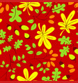 fall season floral seamless pattern autumn vector image