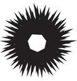 geometric spiral shape motif with circular vector image vector image