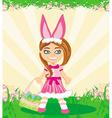 girl in bunny costume vector image vector image