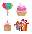 happy birthday elements vector image