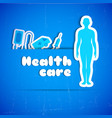 health care background vector image vector image