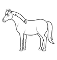 horse animal farm icon vector image vector image