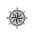 icon marine nautical navigation compass vector image