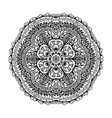 image of a black and white circular pattern vector image vector image