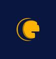 letter g negative modern business logo design vector image vector image
