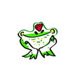 love the frog an of a cute cartoon vector image vector image