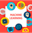 machine learning template vector image