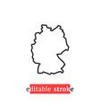 minimal editable stroke germany map icon vector image