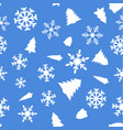 pattern with christmas element vector image vector image