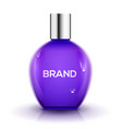 perfume bottle design glass beauty cosmetic vector image
