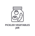 pickled vegetables jar line icon outline sign vector image