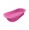 pink tub or bath vector image