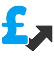 Pound Growth Flat Icon Symbol vector image