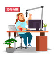 radio dj modern radio station studio on vector image vector image
