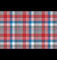 red blue fabric texture check plaid seamless vector image