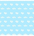 retro seamless clouds backgroung vector image vector image