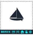 Sailing boat icon flat vector image