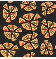 seamless texture of pattern with margherita pizza vector image vector image