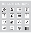 set of 16 web icons for business office theme vector image