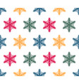 simple seamless pattern with hand drawn snowflakes vector image vector image