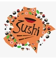 sushi set delicious Japanese food rolls vector image vector image