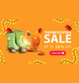 thanksgiving sale up to 50 off orange discount vector image