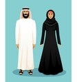 Traditional arab clothing Man and woman vector image vector image