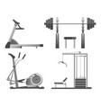 training apparatus with heavy blocks modern vector image vector image
